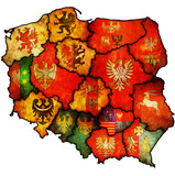 Fototapety administration map of poland