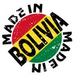 vector label Made in Bolivia