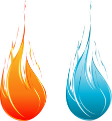 Cool Blue&Red Flames balls