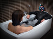 Diver in bathtroom