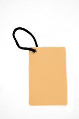 blank brown paper tag