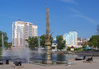 Monument to the 300th anniversary of Lipetsk, Russia