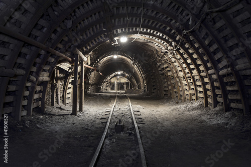Underground tunnel in the coal mine