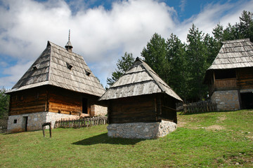 Open air museum Old Village in Sirogojno