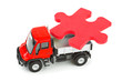 Toy truck with puzzle