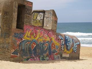 Blockhaus sur le littoral aquitain
