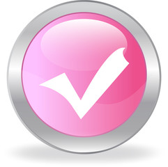The pink button with a tick