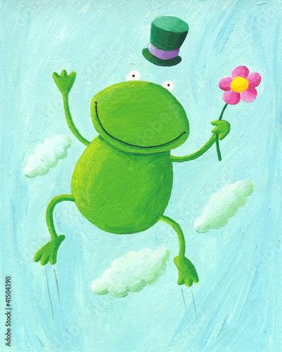 青蛙跳 卡通