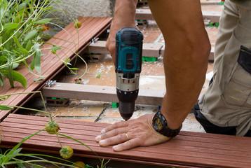 visser la terrasse extérieure