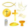 religion symbole, golden, vektor illustration