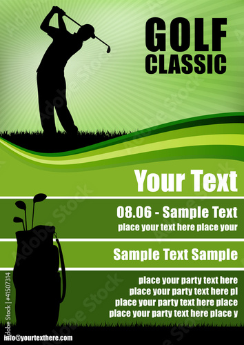 golf flyer stock image and royalty free vector files on pic 41507314. Black Bedroom Furniture Sets. Home Design Ideas