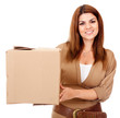 Woman shipping a box