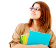 Thoughtful female student