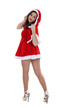 woman in a Santa suit