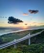 Viaduc de la route des Tamarins au crépuscule