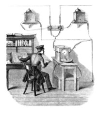 Telegraphist at Work - 19th century