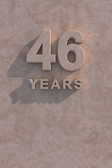 46 years 3d text