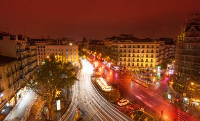 Glorieta de Bilbao, Madrid by night