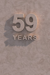 59 years 3d text