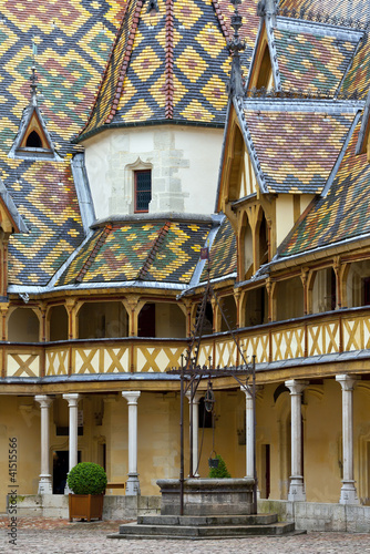 Famous hospice in Beaune, Burgundy, France