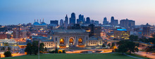 "Постер, картина, фотообои ""Kansas City skyline panorama."""