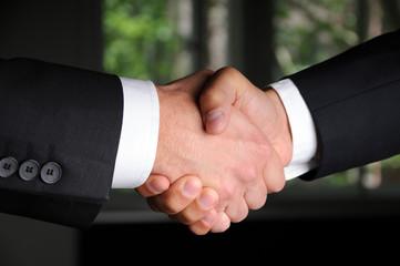 Handschlag nach einem guten Vertrag