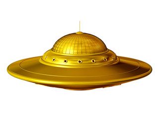 "Unidentified Flying Object, ""ufo"" in pure gold"