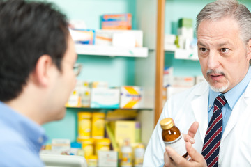 Customer asking advice to a pharmacist