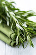 Rosemary Sprigs on Tea Towel