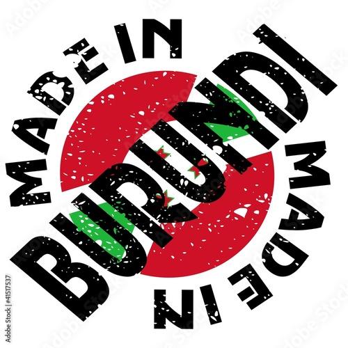 vector label Made in Burundi