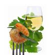 Weißwein mit Scampi