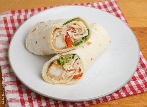 Southern Fried Chicken Wrap Sandwich