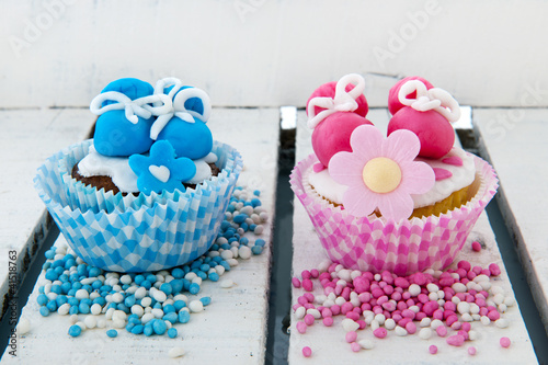 Cupcake for a baby girl and boy