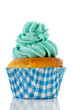 Cupcake in blue and green
