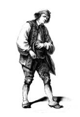 Peasant - Paysan - Bauer - 19th century