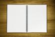 blank notepad on desk