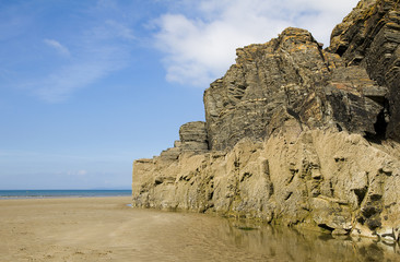 beach and sea cliffs