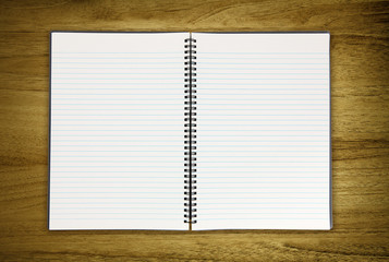blank notepad on desk