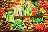 Fototapete Märkte - Basar - Gemüse