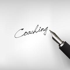 Füllfederhalter mit Schrift Coaching