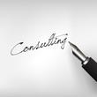 Füllfederhalter mit Schrift Consulting