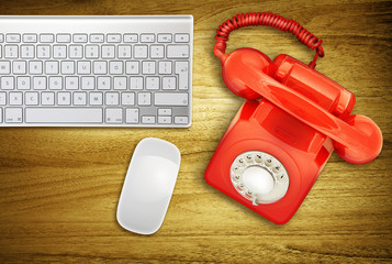 desktop retro phone