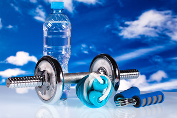 fitness gear and water