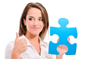 femme avec puzzle 2