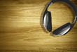 headphones on desk