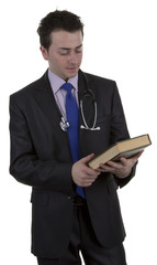 Doctor with a book