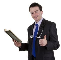 Doctor with book