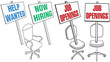Office chair Help Wanted Job Hiring Icons