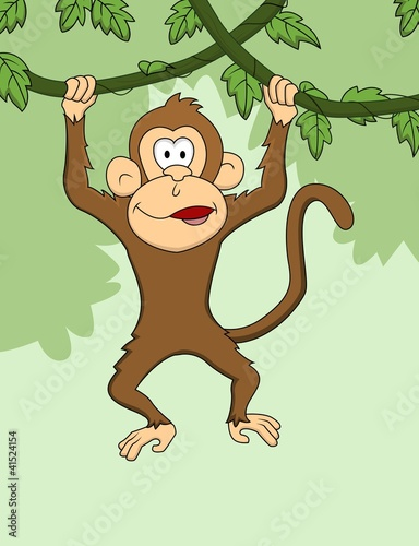 Funny monkey cartoon