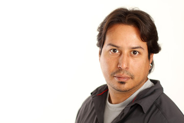 Hispanic Male Portrait with copy space